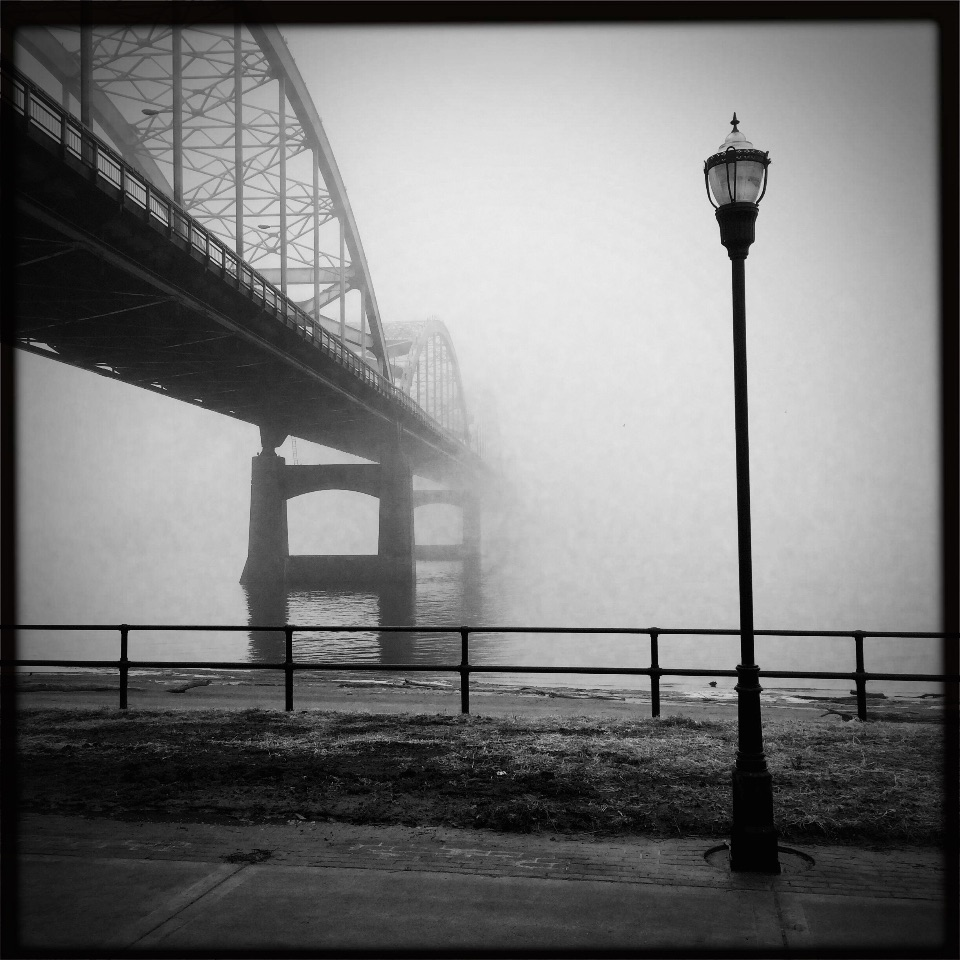 Foggy Centennial Bridge