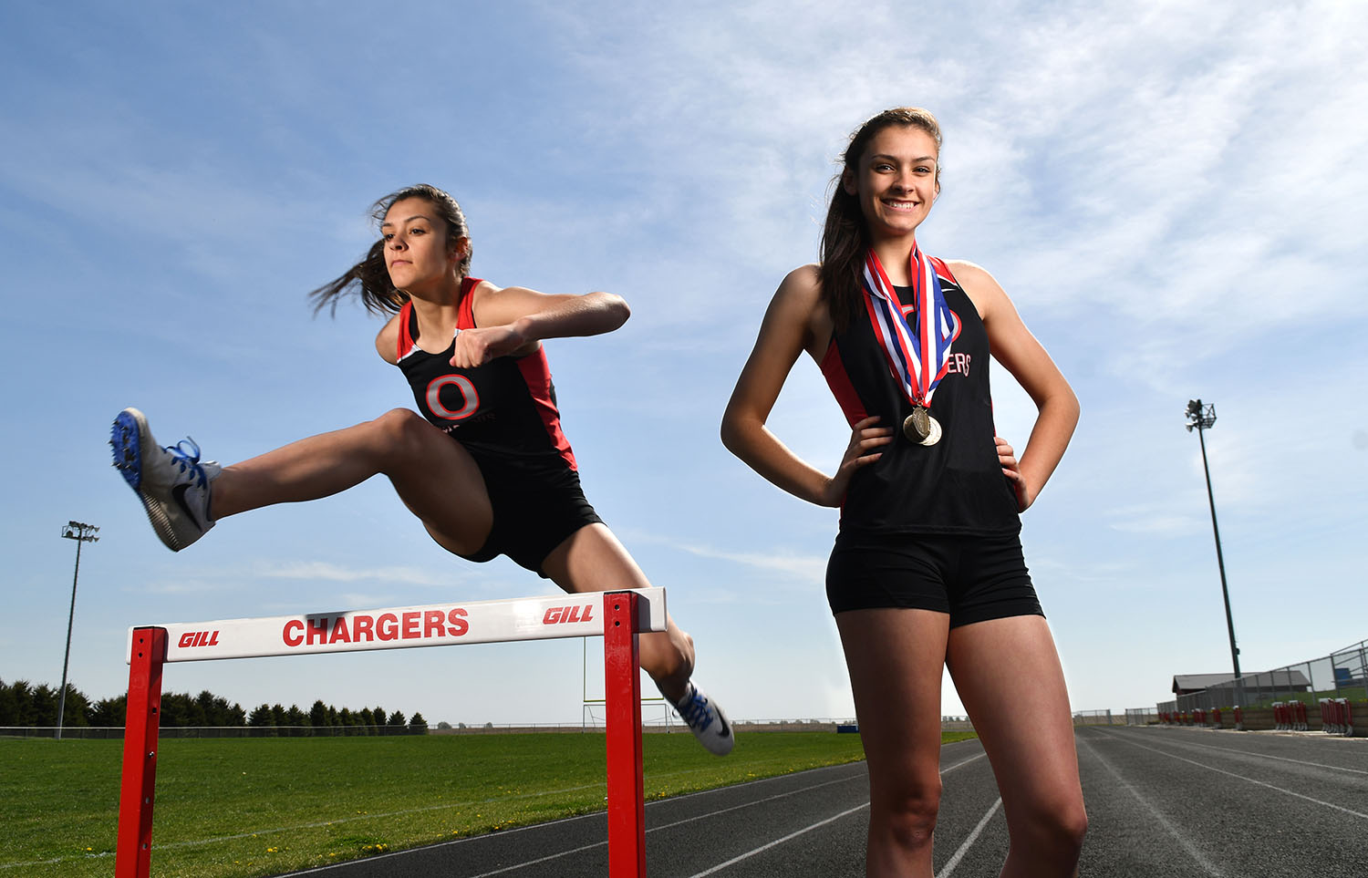 Orion girls' track standout Danielle Taets is this week's Dispatch-Argus-QCOnline Area Pacesetter. The junior is coming off three titles (triple jump, 100 high hurdles, 300 low hurdles) and a runner-up finish (100 meter dash) at last Thursday's Three Rivers Conference meet.   (Todd Mizener - Dispatch/Argus)