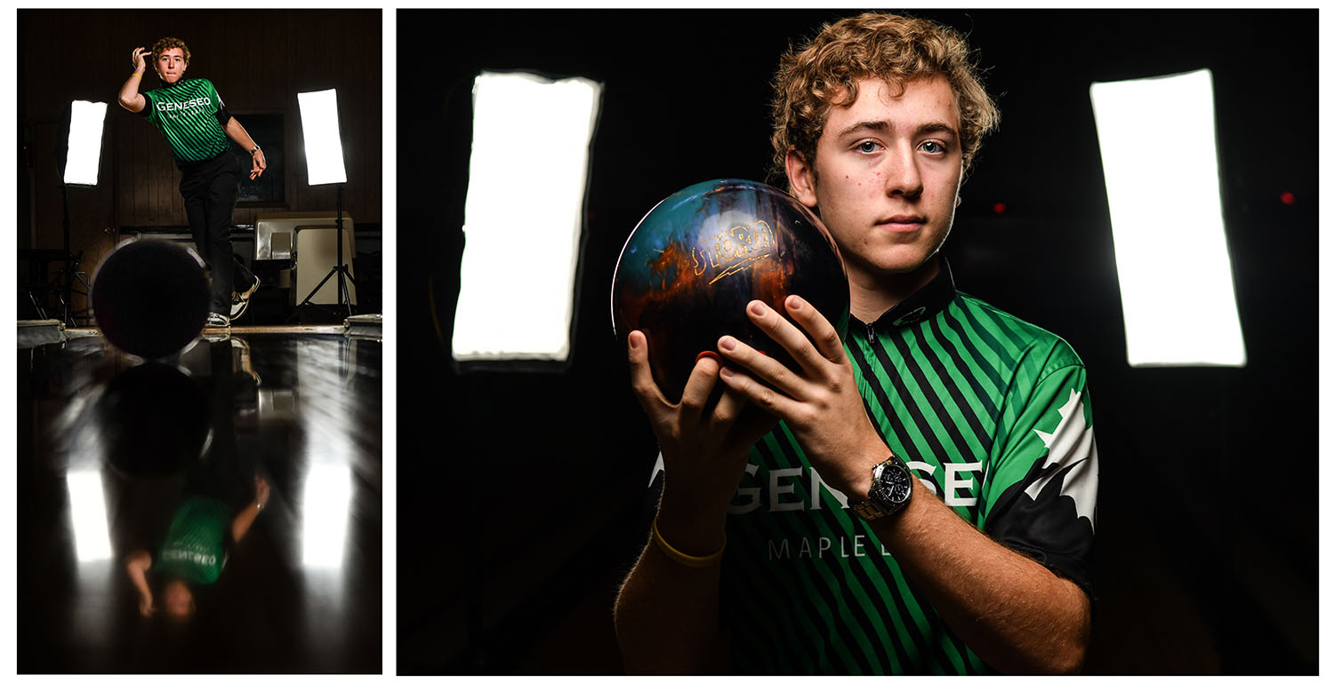 Geneseo bowler Sebastian Einfeldt is the Dispatch/Argus Metro Pacesetter for November 22, 2018.  (Todd Mizener - Dispatch/Argus)