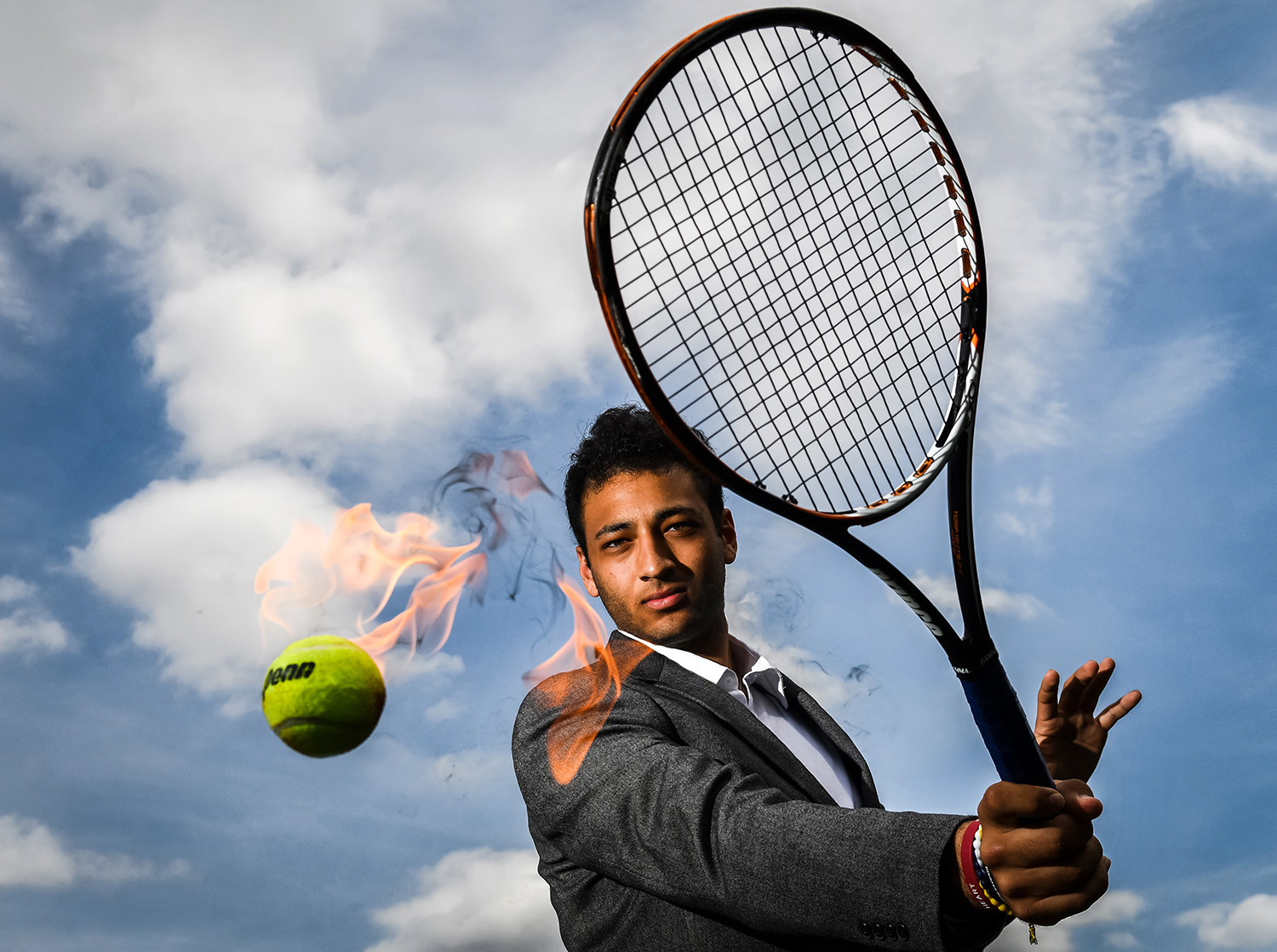 "Moline's Shaddy Khalafallah. The dapper senior tennis player finished ninth in No. 1 singles at the Tom Pitchford Invitational, also known as ""mini-state"", in Arlington Heights over the weekend. His only loss in the tournament was to top-seeded Jack Randall of Lockport, who won the tournament.  (Todd Mizener - Dispatch/Argus)"